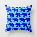 Baby Elephant Parade Throw Pillow