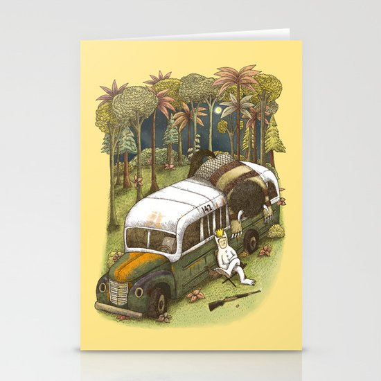 Into The Wild Things Stationery Card