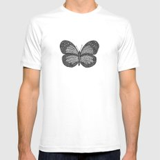 BUTTERFLY3 White SMALL Mens Fitted Tee