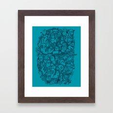 Blue Doodle Framed Art Print