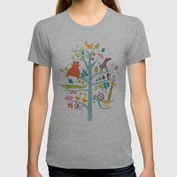 tree Womens Fitted Tee Athletic Grey SMALL