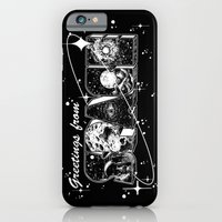 iPhone Cases featuring Greetings From Space by Corinne Elyse