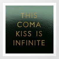 Coma Kiss  Art Print