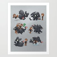 How Not to Train Your Dragon Art Print