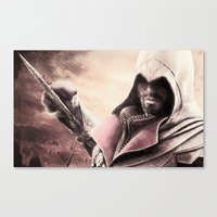 Ezio Auditore from Assassin's Creed - Color Sketch Work Canvas Print