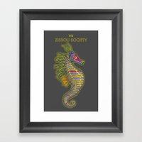 Crayon Pony Fish Framed Art Print