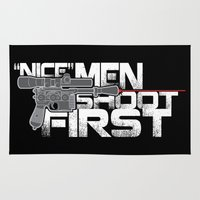 Nice Men Shoot First Rug