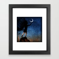 Give The Moon A Little K… Framed Art Print
