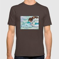 Spirited Away Mens Fitted Tee Brown SMALL