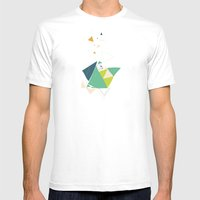 Exploding Triangles//Six Mens Fitted Tee White SMALL