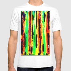 paint pattern 2 (red yellow & orange & green & blue) Mens Fitted Tee SMALL White