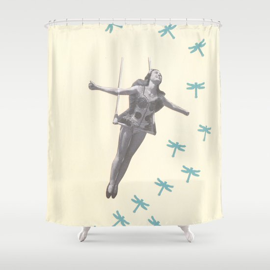 Oh to be a Dragonfly Shower Curtain