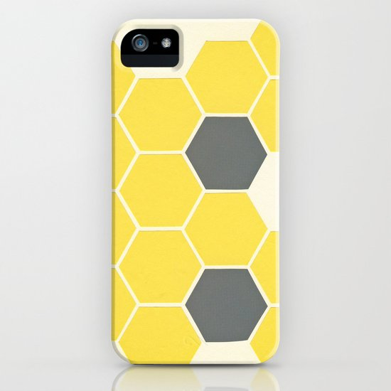 Yellow Honeycomb iPhone & iPod Case