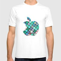 APPLE Mens Fitted Tee White SMALL