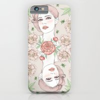 Woman With Flowers And B… iPhone 6 Slim Case