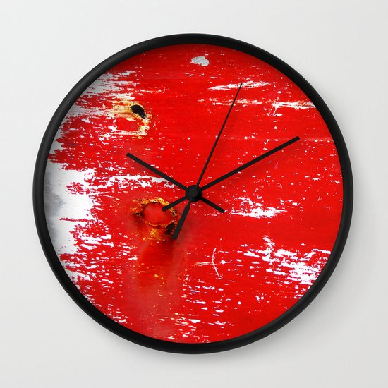 Scratches Wall Clock