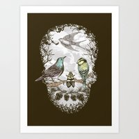 Nature's Skull II Art Print