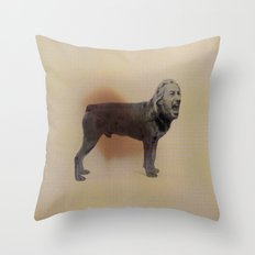 Two dogs and BOB Throw Pillow
