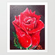 Red Red Rose Acrylic Pai… Art Print