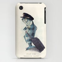 iPhone Cases featuring The Pilot by Eric Fan
