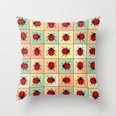 Ladybugs pattern Throw Pillow