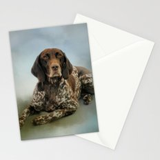 Waiting For A Cue - German Shorthaired Pointer Stationery Cards
