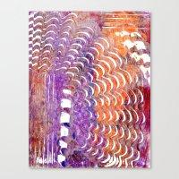 Purple and Orange Squiggle Print Canvas Print