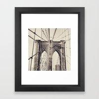 Brooklyn Bridge - New York Framed Art Print