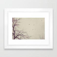 winter flight Framed Art Print