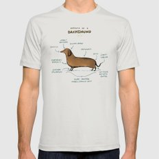 Anatomy of a Dachshund Mens Fitted Tee Silver SMALL