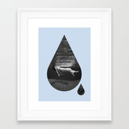 Underwater Love Framed Art Print