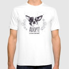 Adopt Mens Fitted Tee White SMALL