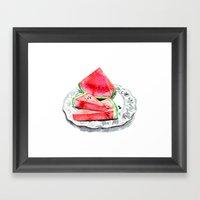 Wassermelone   Watermelo… Framed Art Print