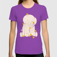 Big Mama Womens Fitted Tee Ultraviolet SMALL