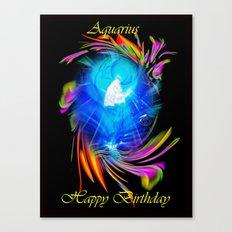 Zodiac Sign Aquarius  Ha… Canvas Print