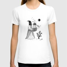 Harbinger of Anxiety Womens Fitted Tee White SMALL
