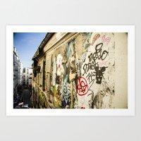 Montmartre Street Art 1 Art Print