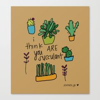 Plant Love. Canvas Print