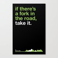 Warren Miller - fork in the road. Canvas Print