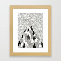 The Mountain Covered In … Framed Art Print