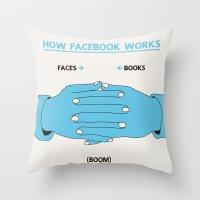 How Facebook Works Throw Pillow