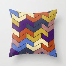 Geometric Chevrons Throw Pillow