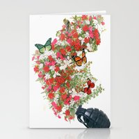 Make Love Not War - By A… Stationery Cards
