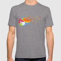 Birds Color Mens Fitted Tee Tri-Grey SMALL