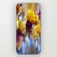 Straw flowers iPhone & iPod Skin