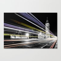 Big Ben light trails Canvas Print