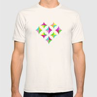 Colour Block 2 Mens Fitted Tee Natural SMALL