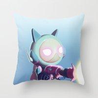 Kaptain Katz Throw Pillow