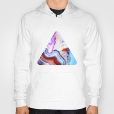 Agate, a vivid Metamorphic rock on Fire Hoody