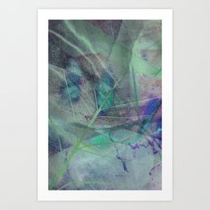 Dry blue leaf Art Print